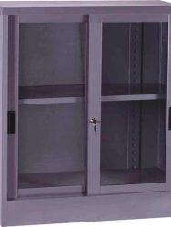 """""""Lemari Kantor VIP Sliding Kaca 1/2 Tinggi V 601"""""""