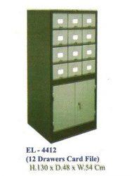 """""""Lemari Arsip Kantor ELITE EL-4412 (Card File)"""""""