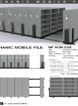 Mobile File Alba Mekanik MF AUM 3-05